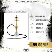 Kaljano komplektas ALADIN Alux Admiral Gold
