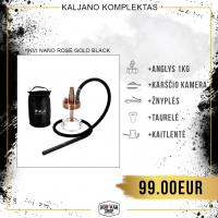 Kaljano komplektas INVI Nano Rose Gold Black